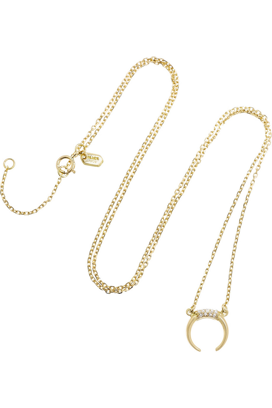 Maria Black 14 Karat Long Check Necklace in Metallics 4hzosLa