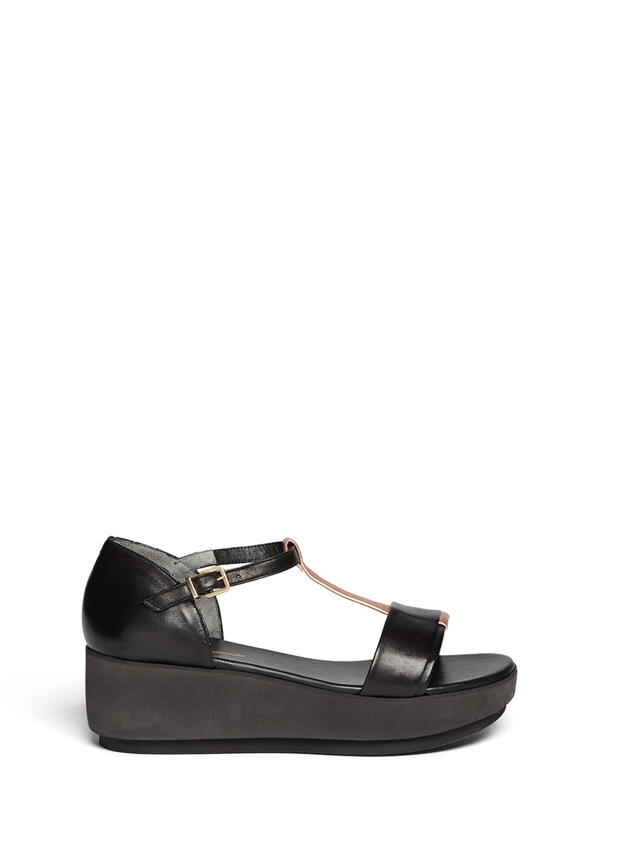 Robert Clergerie Patent Leather T-Strap Sandals sale best seller cheap sale footlocker outlet Inexpensive ab9JiJW