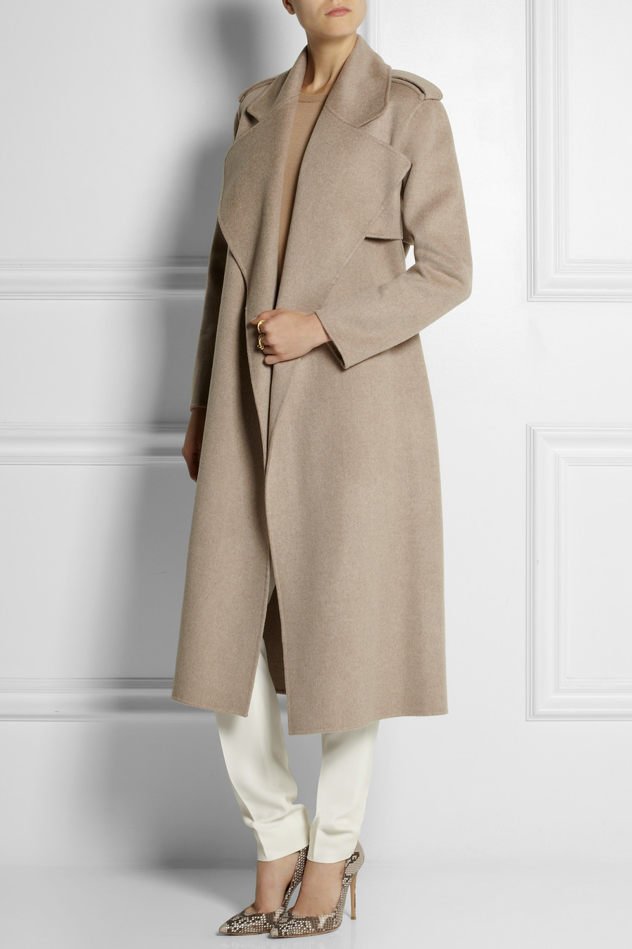 Joseph Win Wool and Cashmereblend Trench Coat in Gray | Lyst