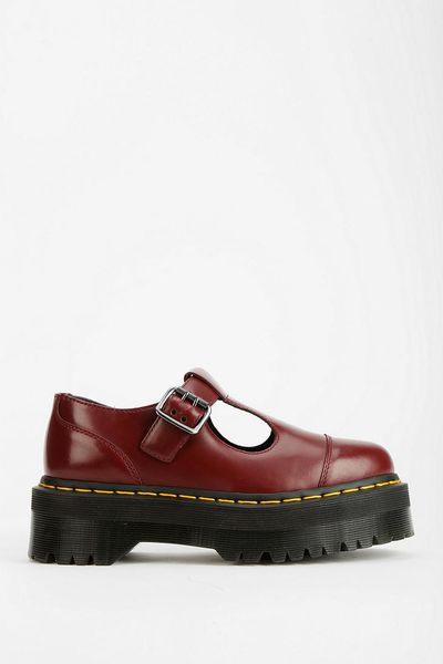 Dr Martens Bethan Platform Oxford In Red Lyst