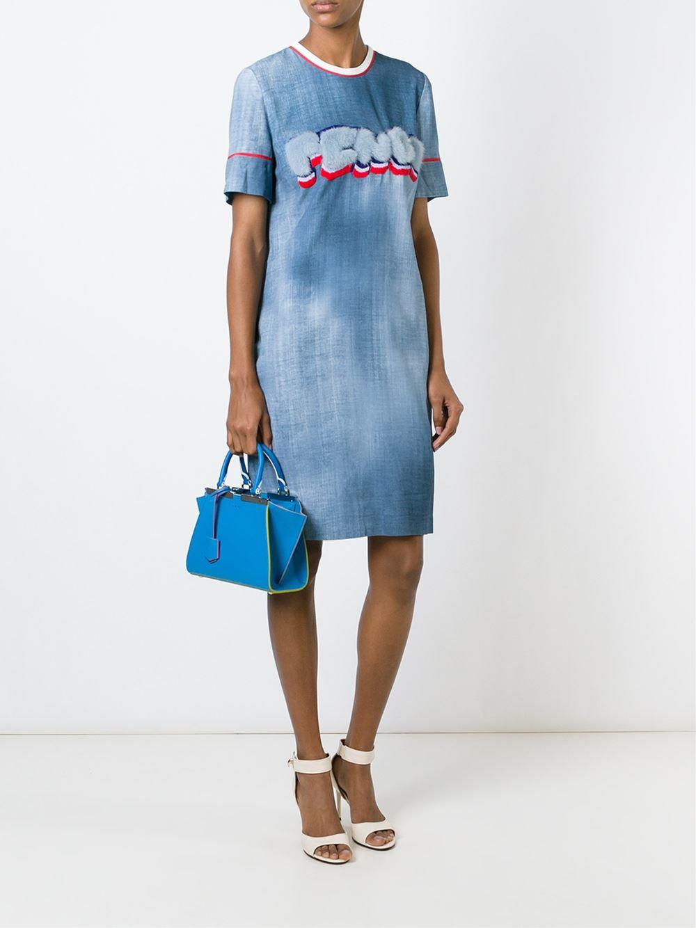 8afacdd632 Lyst - Fendi Mini  3jours  Crossbody Bag in Blue
