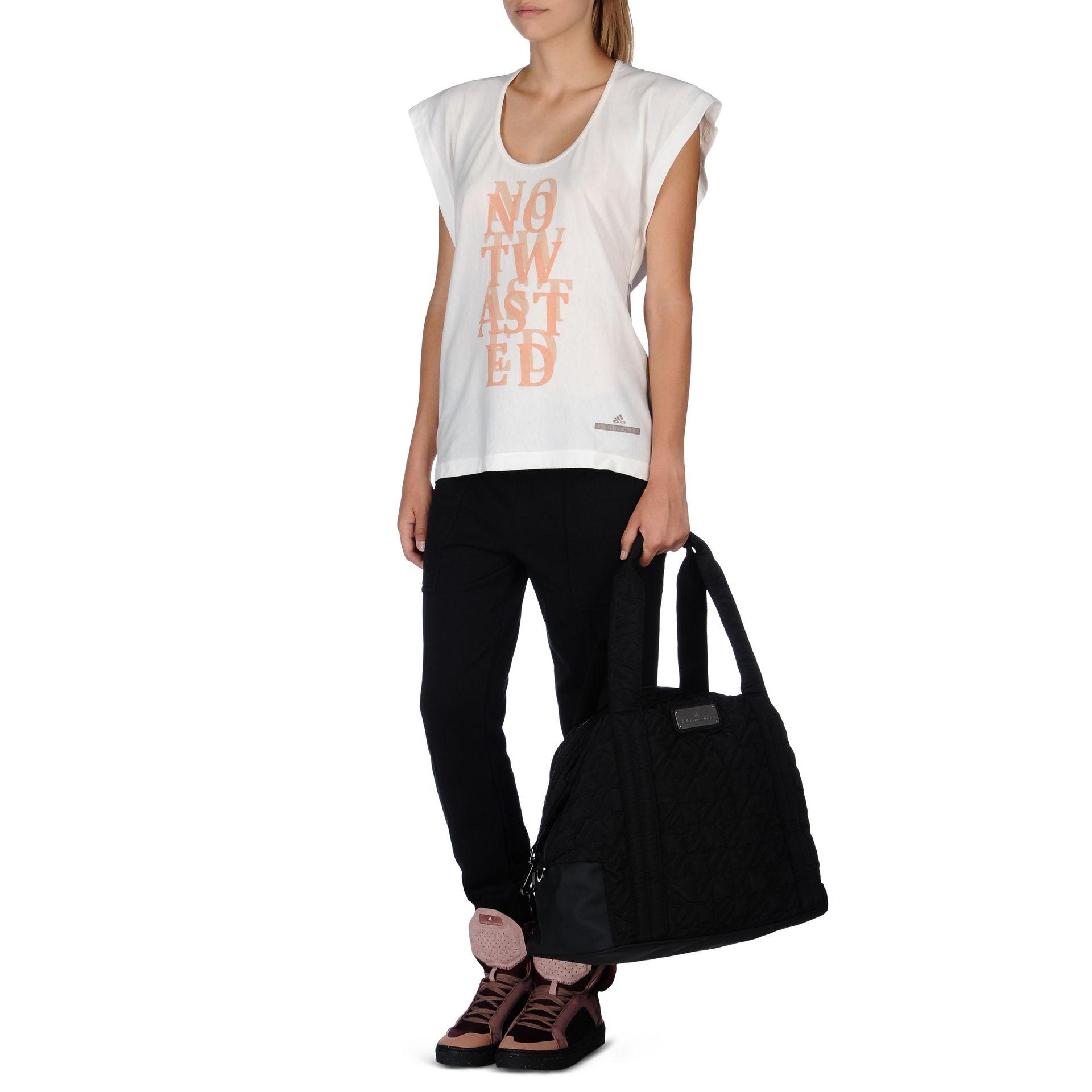 4e7450da1960 adidas By Stella McCartney Big Gym Bag in Black - Lyst