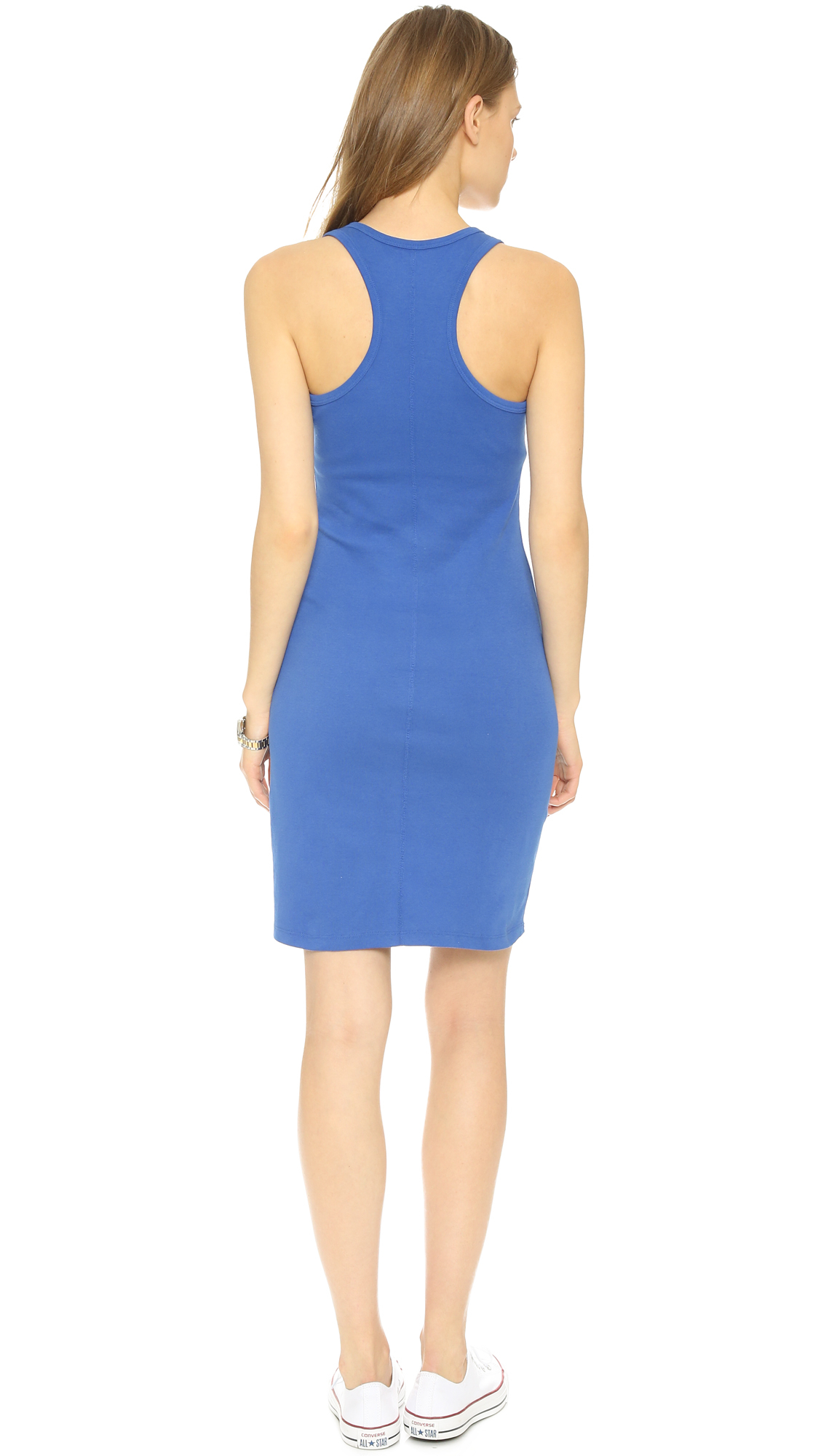 Lyst Three Dots Racer Back Mini Dress Blaze In Blue