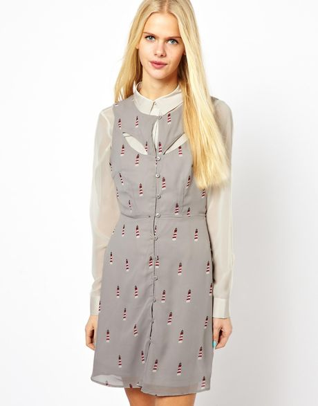 Sugarhill Lighthouse Dress in Gray (Grey)