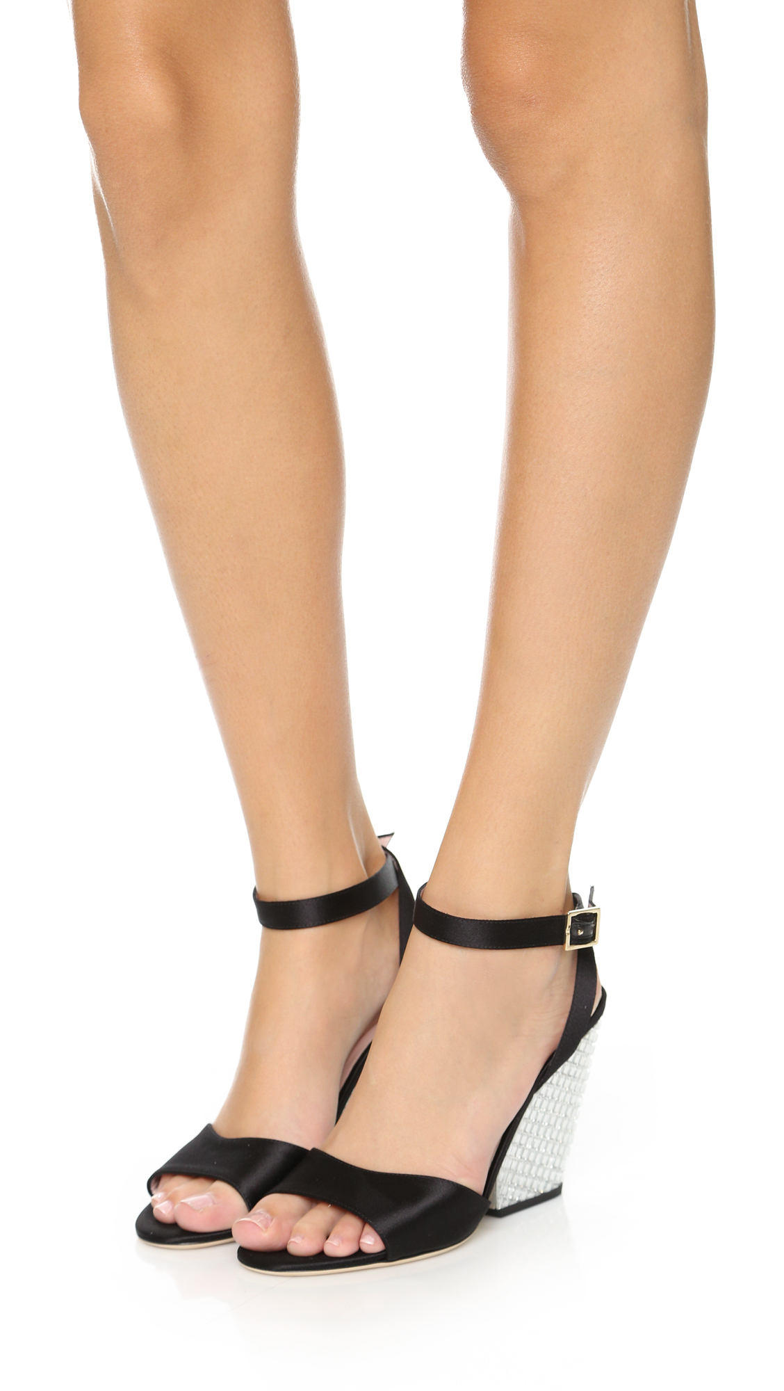 b0a1a04fd4f7 Kate Spade Isadora Wedges in Black - Lyst