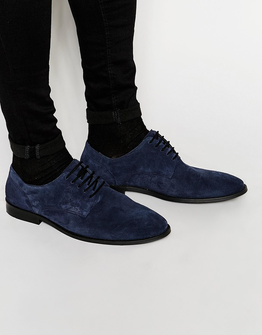 ad6b98e9a06b Dune Suede Derby Shoes in Blue for Men - Lyst