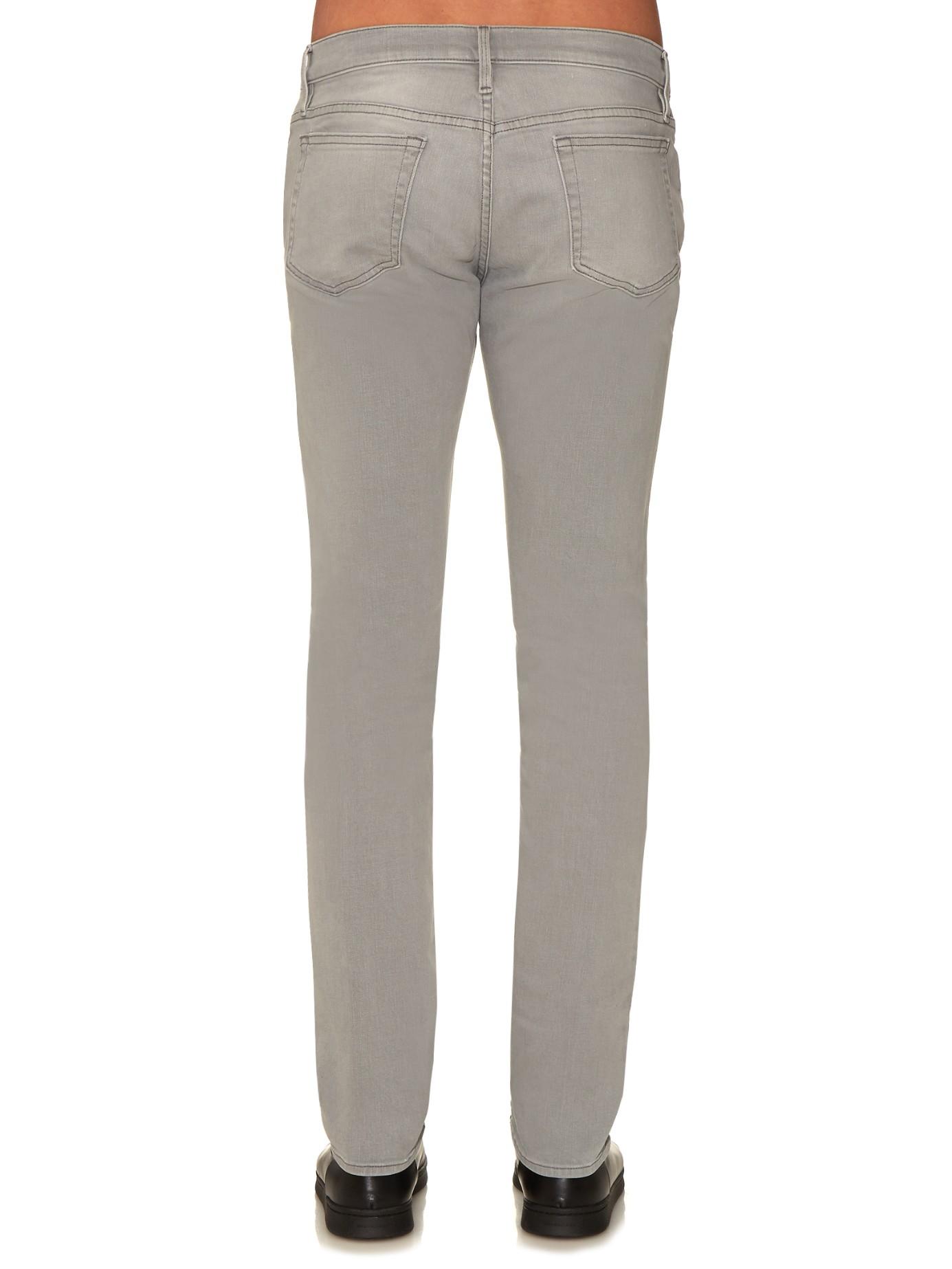 frame l 39 homme skinny jeans in gray for men lyst. Black Bedroom Furniture Sets. Home Design Ideas