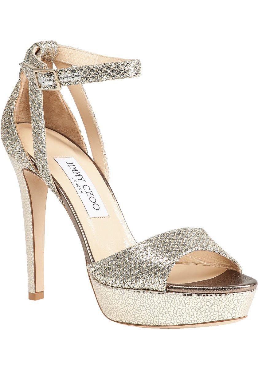 72e80b294e8 Lyst - Jimmy Choo Kayden Platform Sandal Champagne Glitter in Metallic