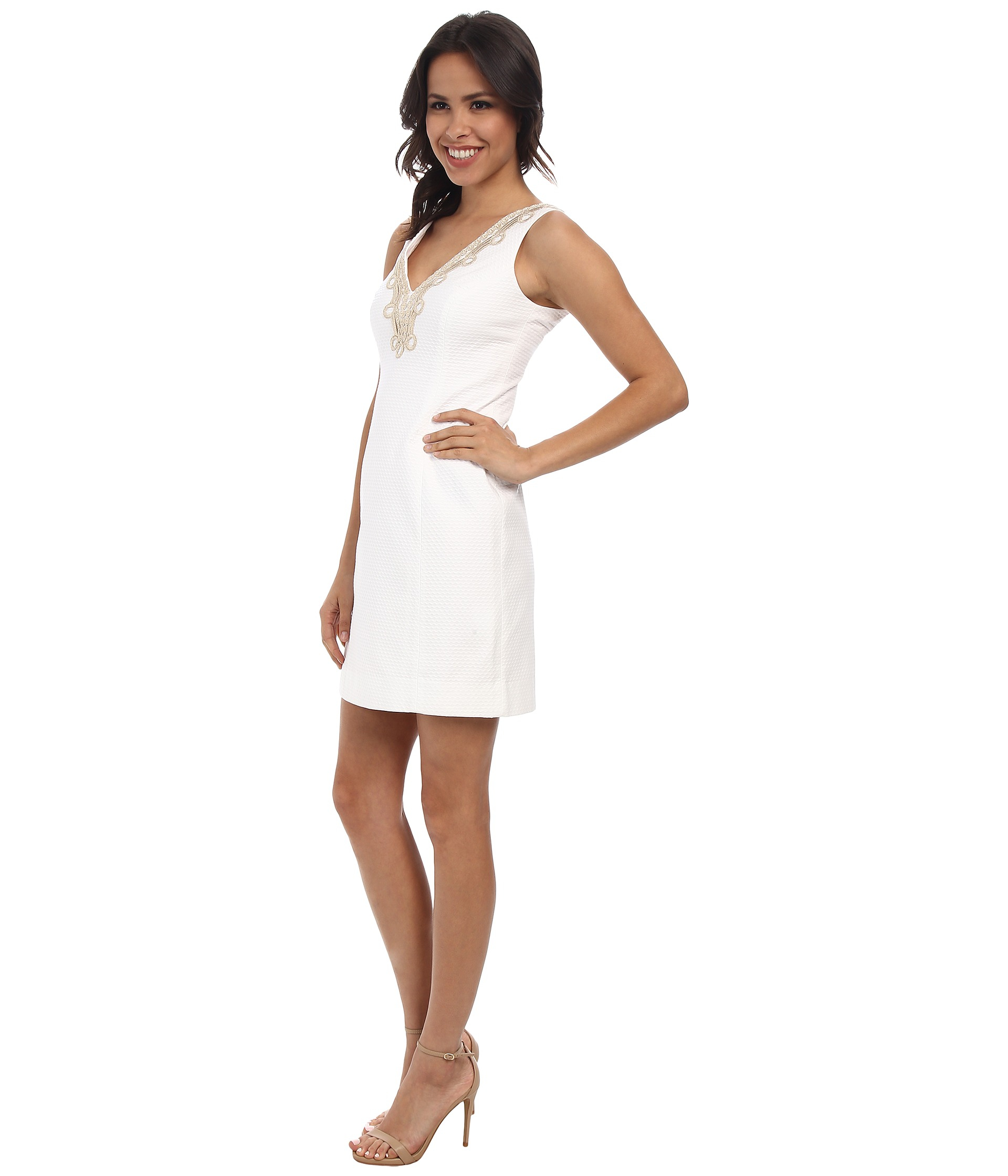 Lilly pulitzer Bentley Shift Dress in White | Lyst