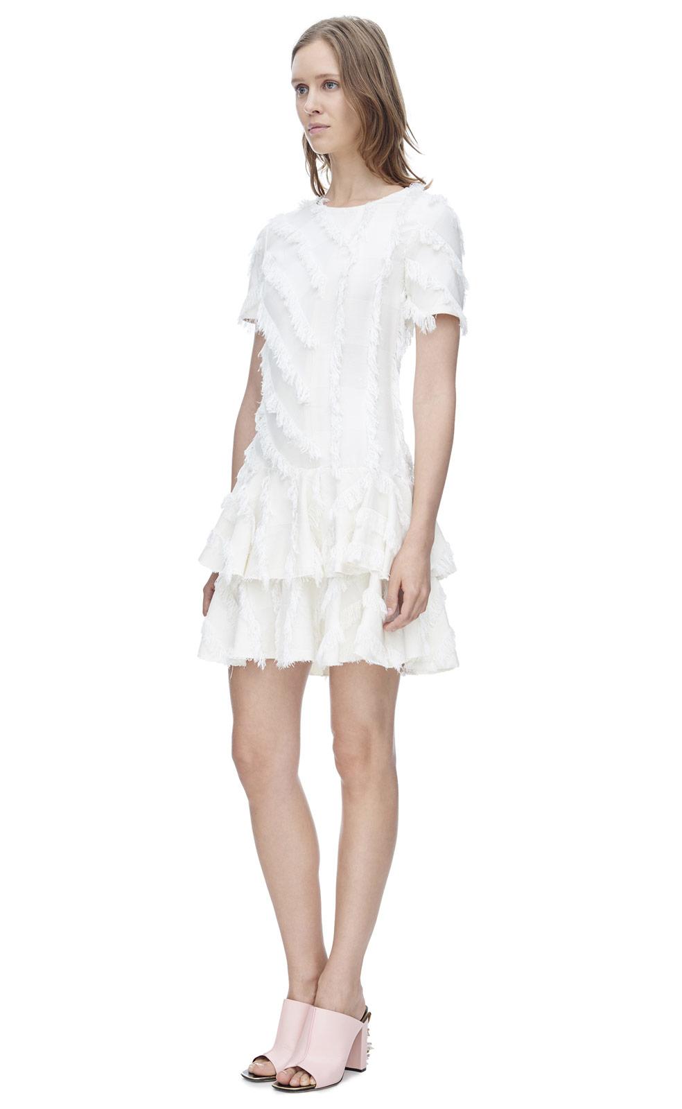 Short White Fringe Dress
