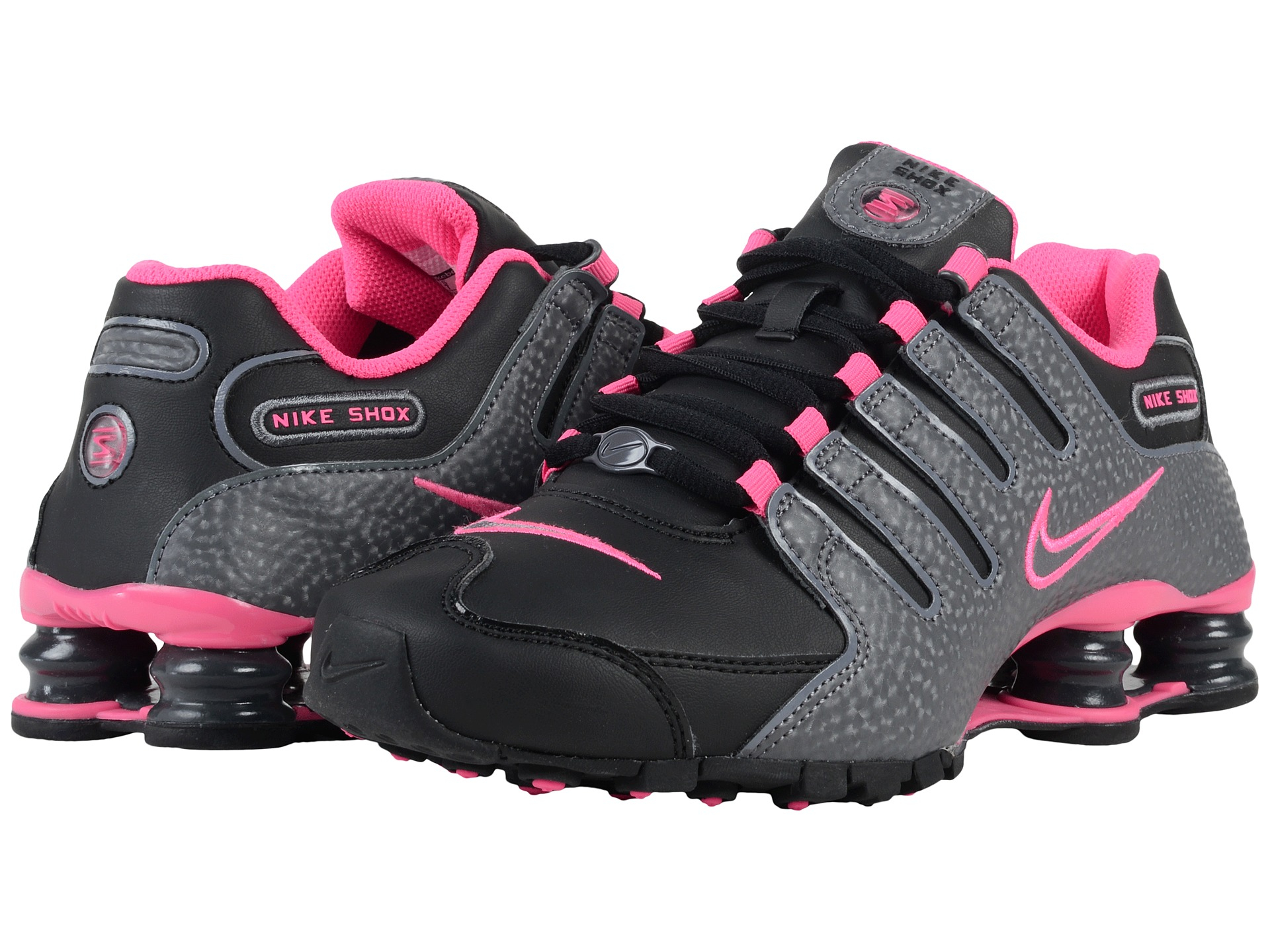 womens nike shox current pink white 1 nike blackdark grey shox nz black