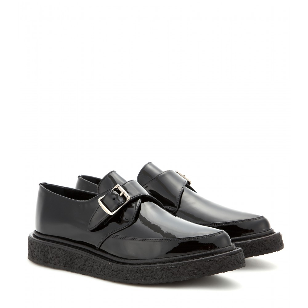 Saint laurent Patent-Leather Creepers in Black
