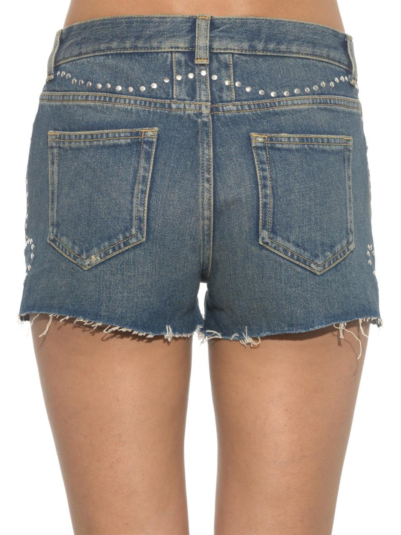 Frayed denim shorts Saint Laurent GKeiA