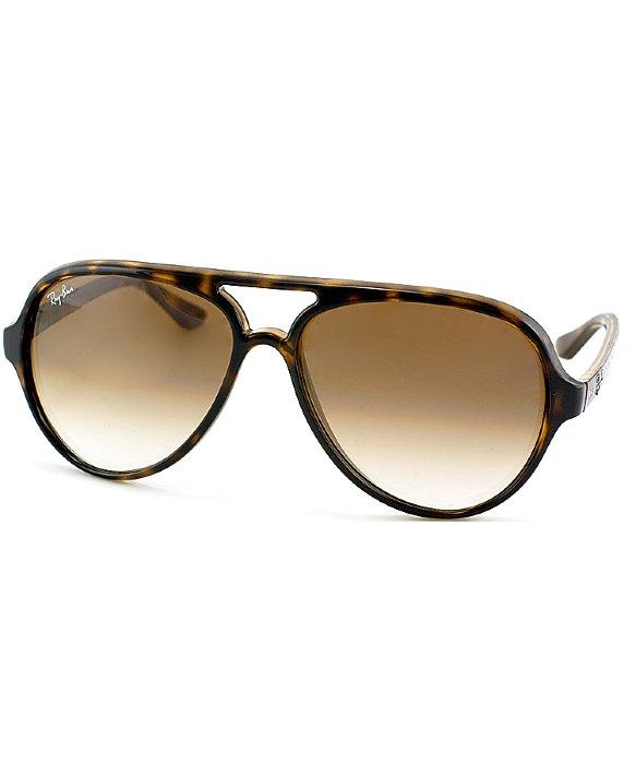 Ray Ban Tortoise Aviator Sunglasses  ray ban rb 4125 710 51 light havana aviator plastic sunglasses in