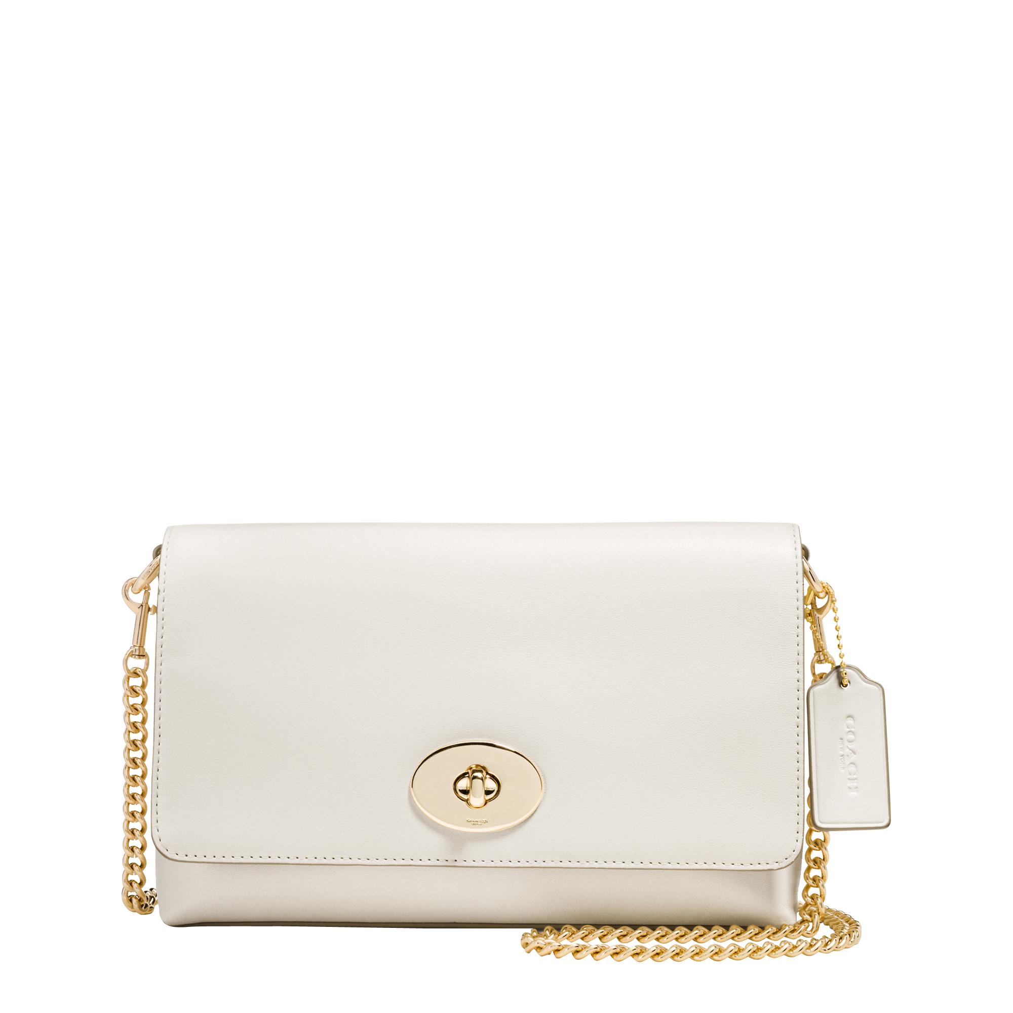 5c9e4ed717 inexpensive coach shoulder bag 62351 70f83; best price lyst coach crosstown  crossbody clutch in white c2f81 a5ee3