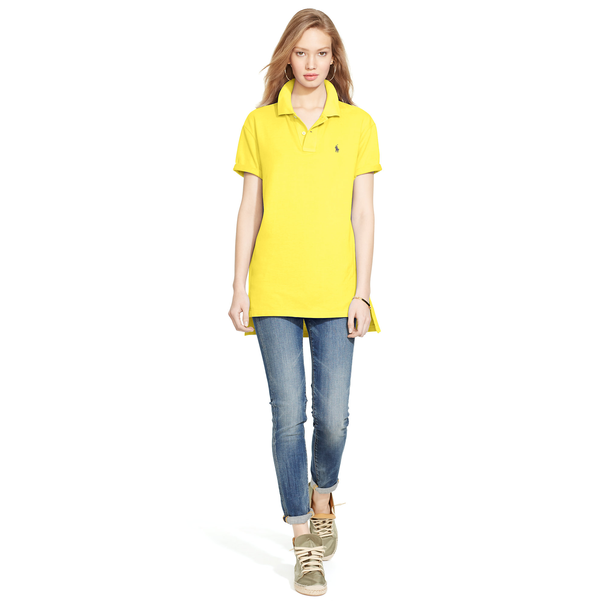 Lyst Polo Ralph Lauren Boyfriend Polo Shirt In Yellow