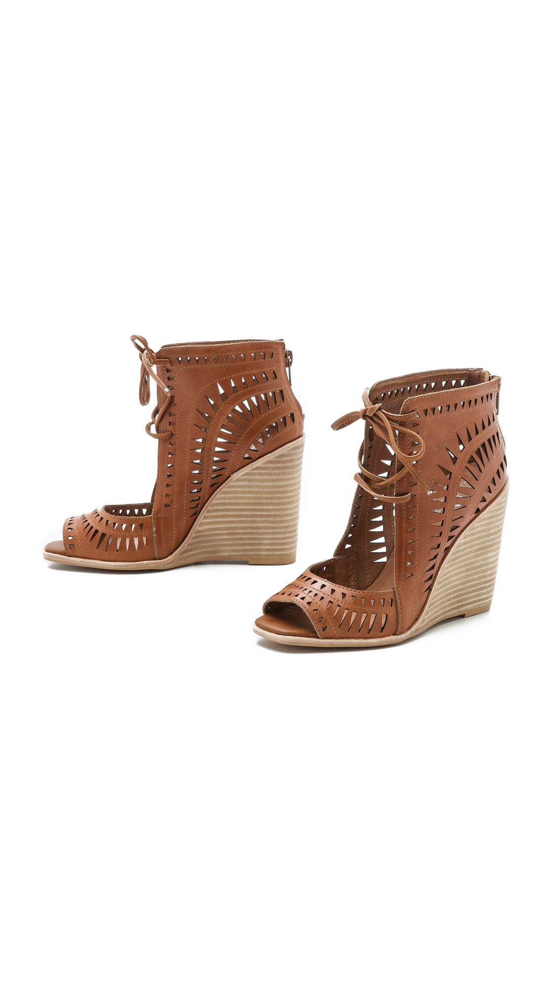 Jeffrey Campbell Rodillo Wedges Tan In Brown Lyst
