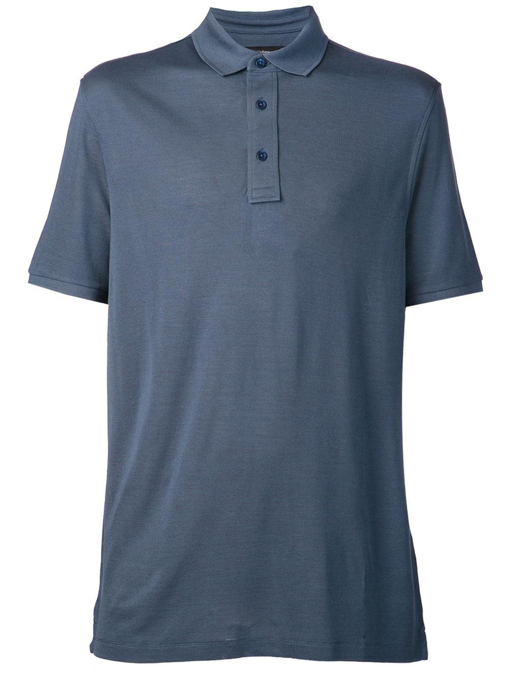 ermenegildo zegna classic polo shirt in blue for men lyst. Black Bedroom Furniture Sets. Home Design Ideas