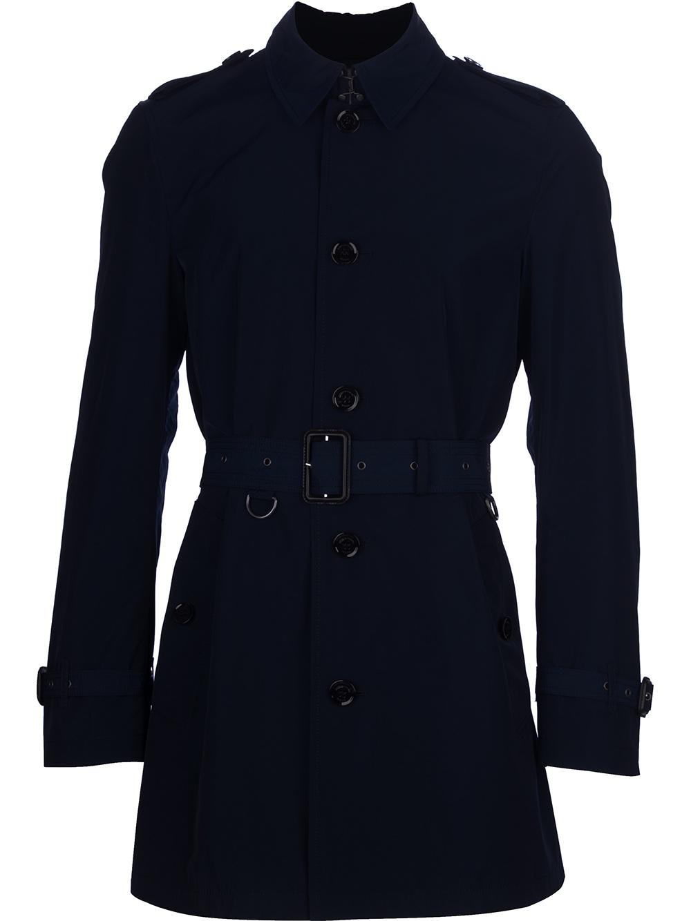 burberry brit brixton trench coat in blue for men lyst. Black Bedroom Furniture Sets. Home Design Ideas