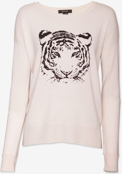 Christopher Fischer Tiger Graphic Cashmere Sweater in Pink (pink-lt)