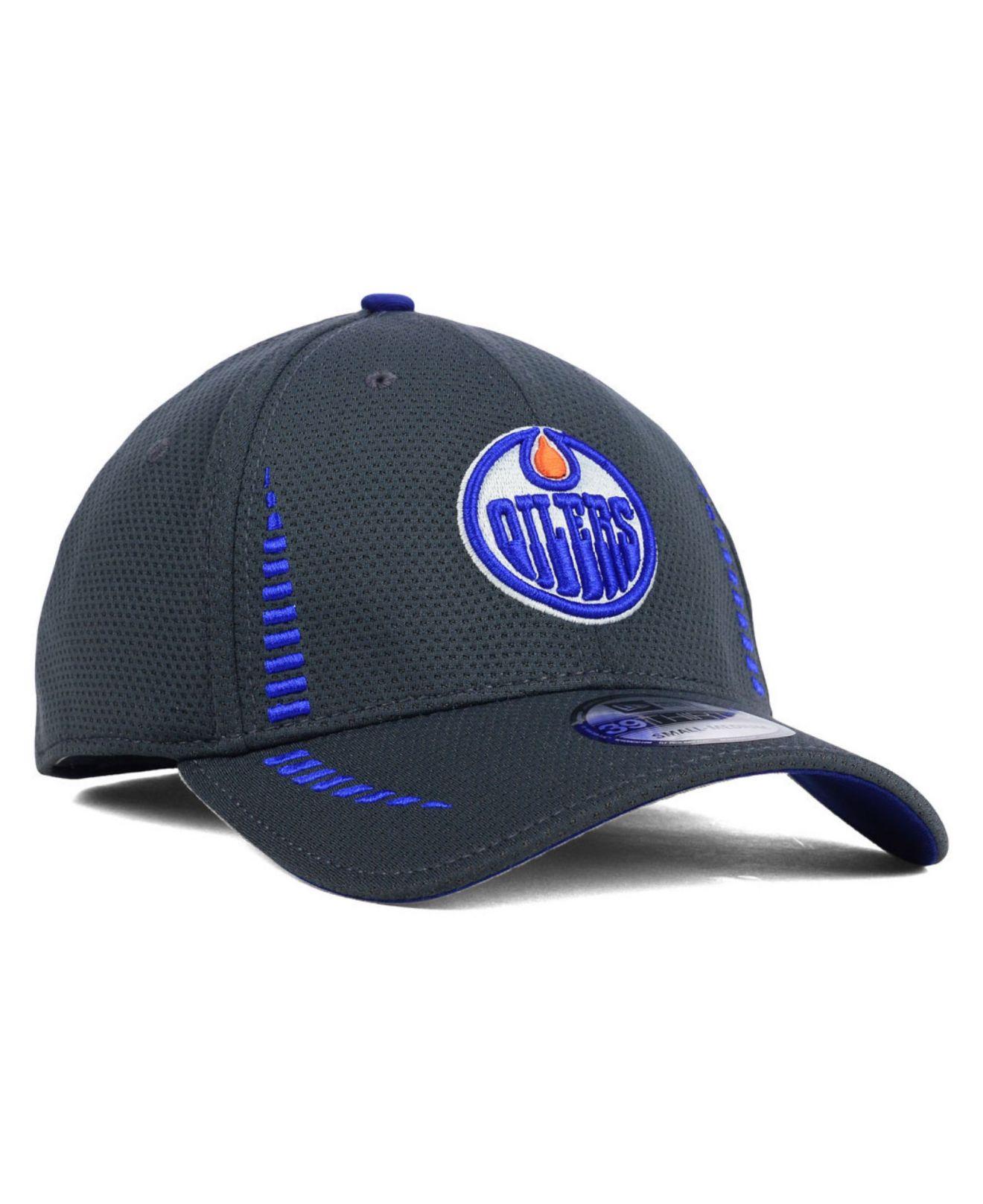 quality design c60b4 3b307 Lyst - KTZ Edmonton Oilers Graphite Training 39thirty Cap in Gray ...