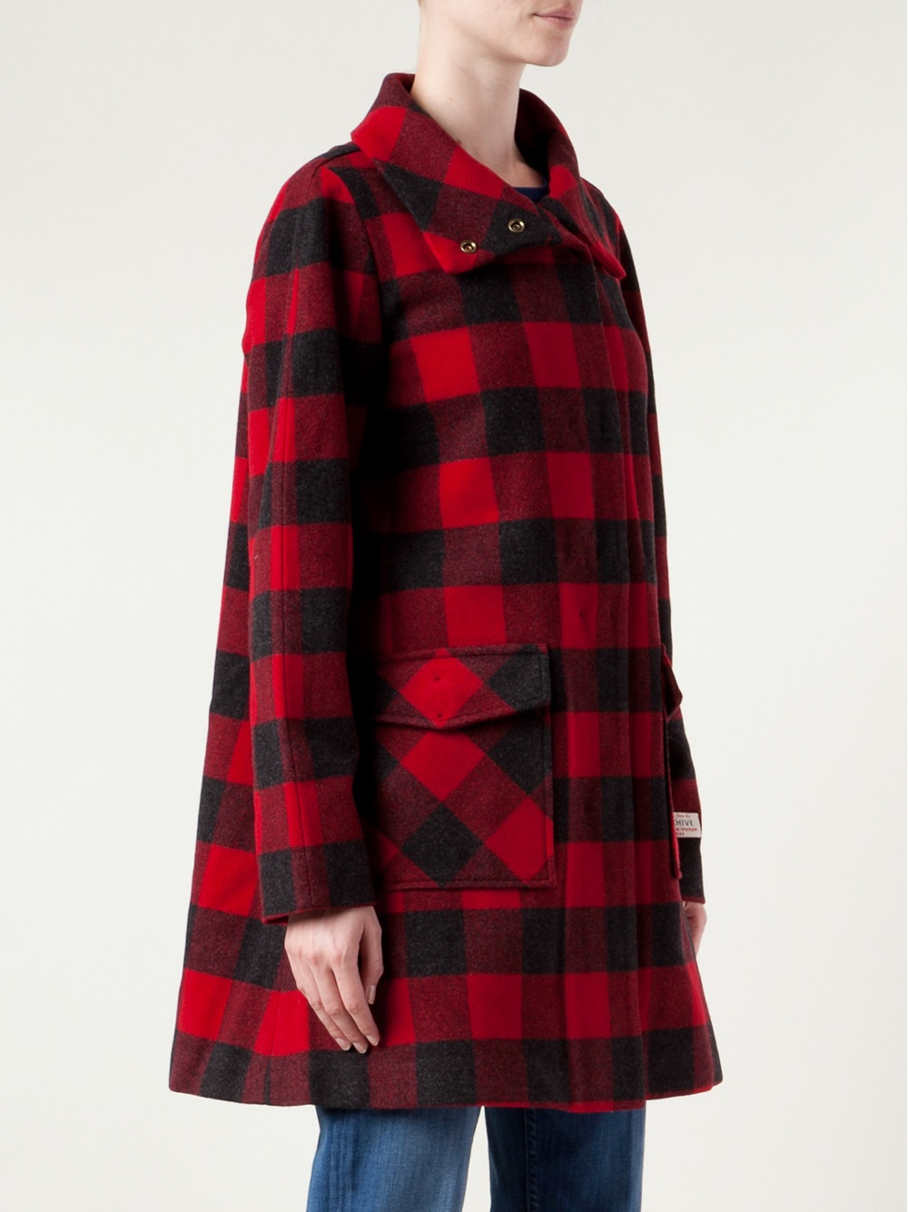 Lyst Woolrich Buffalo Plaid Coat In Red