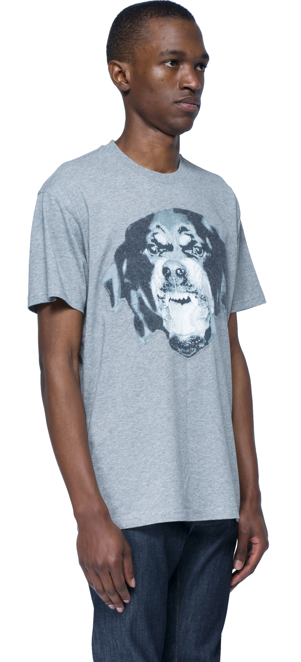 Givenchy t shirt over with dog face in gray for men lyst for Givenchy t shirt man
