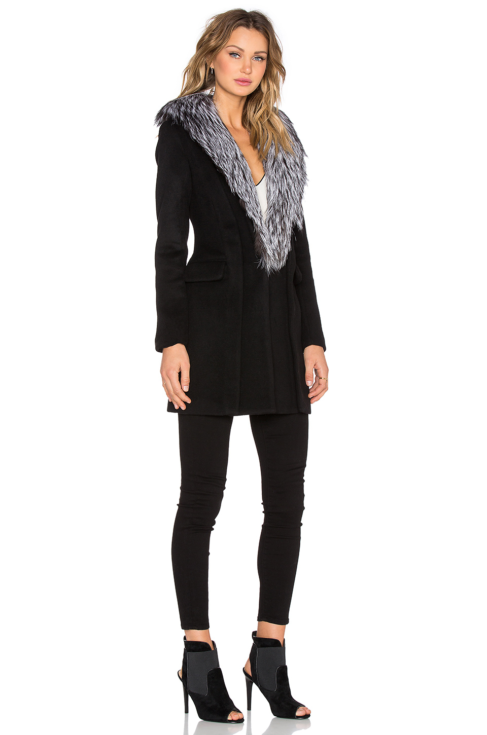 Native Stranger Mid Length Jacket With Removable Real Fox