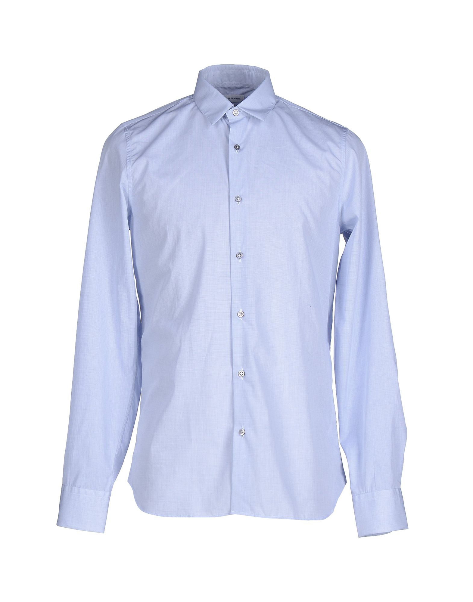 lyst jil sander shirt in blue for men. Black Bedroom Furniture Sets. Home Design Ideas