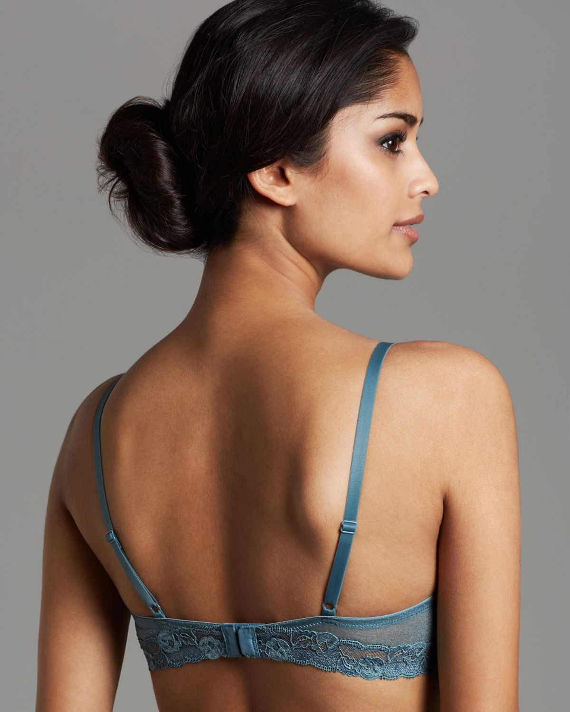 fc5a437ccf8e7c Lyst - Calvin Klein Bra Luster Bare Unlined Underwire in Blue