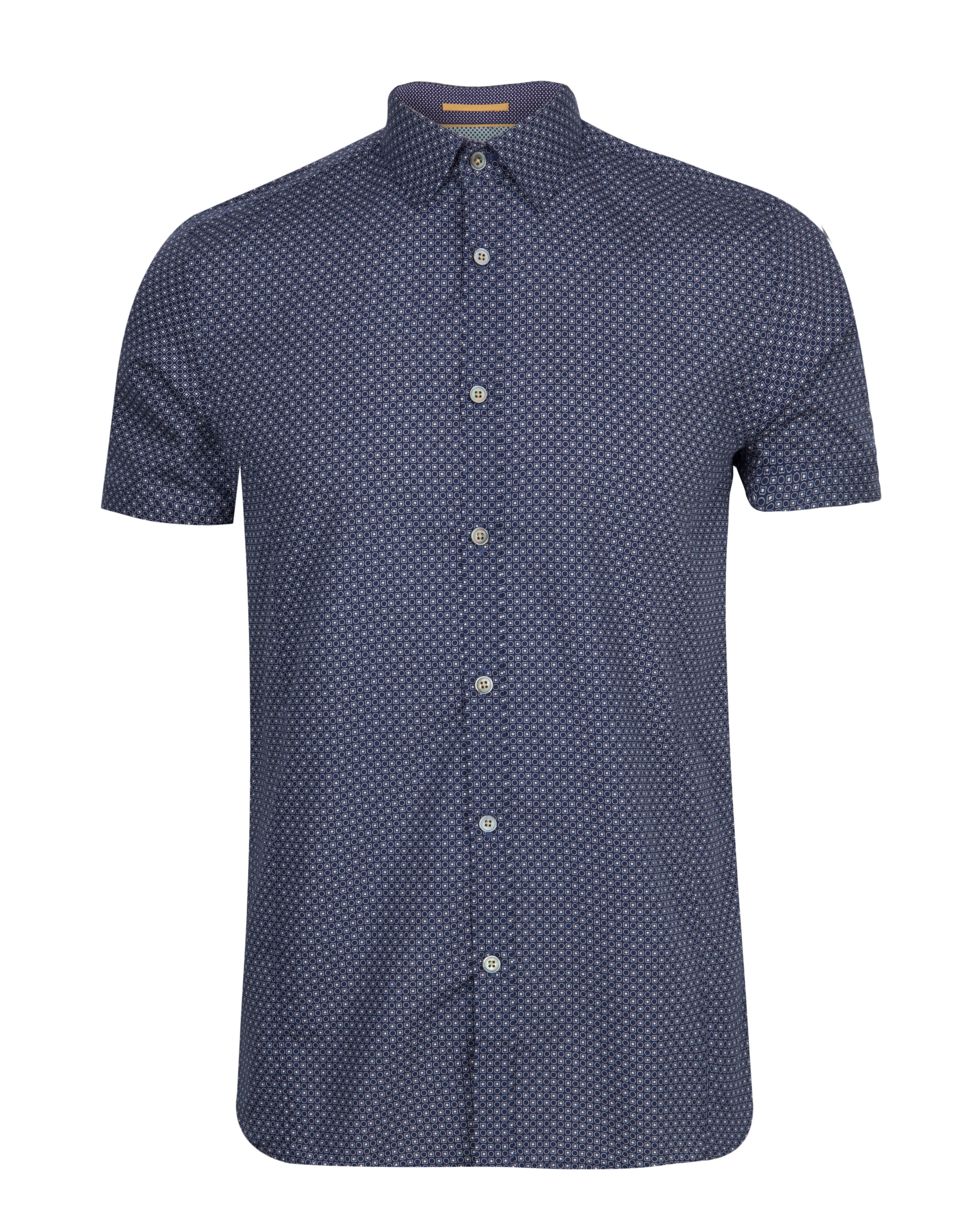 Ted baker paletwo pattern short sleeve shirt in blue for for Ted baker blue shirt