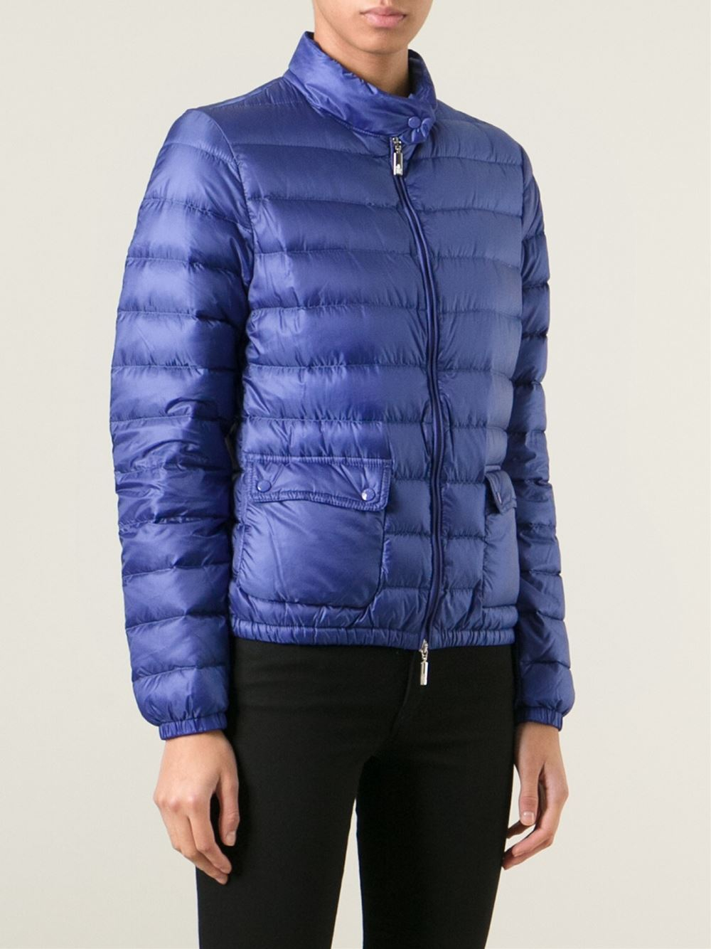 10fbf90c3a92 Moncler Lans Quilted Jacket in Blue - Lyst