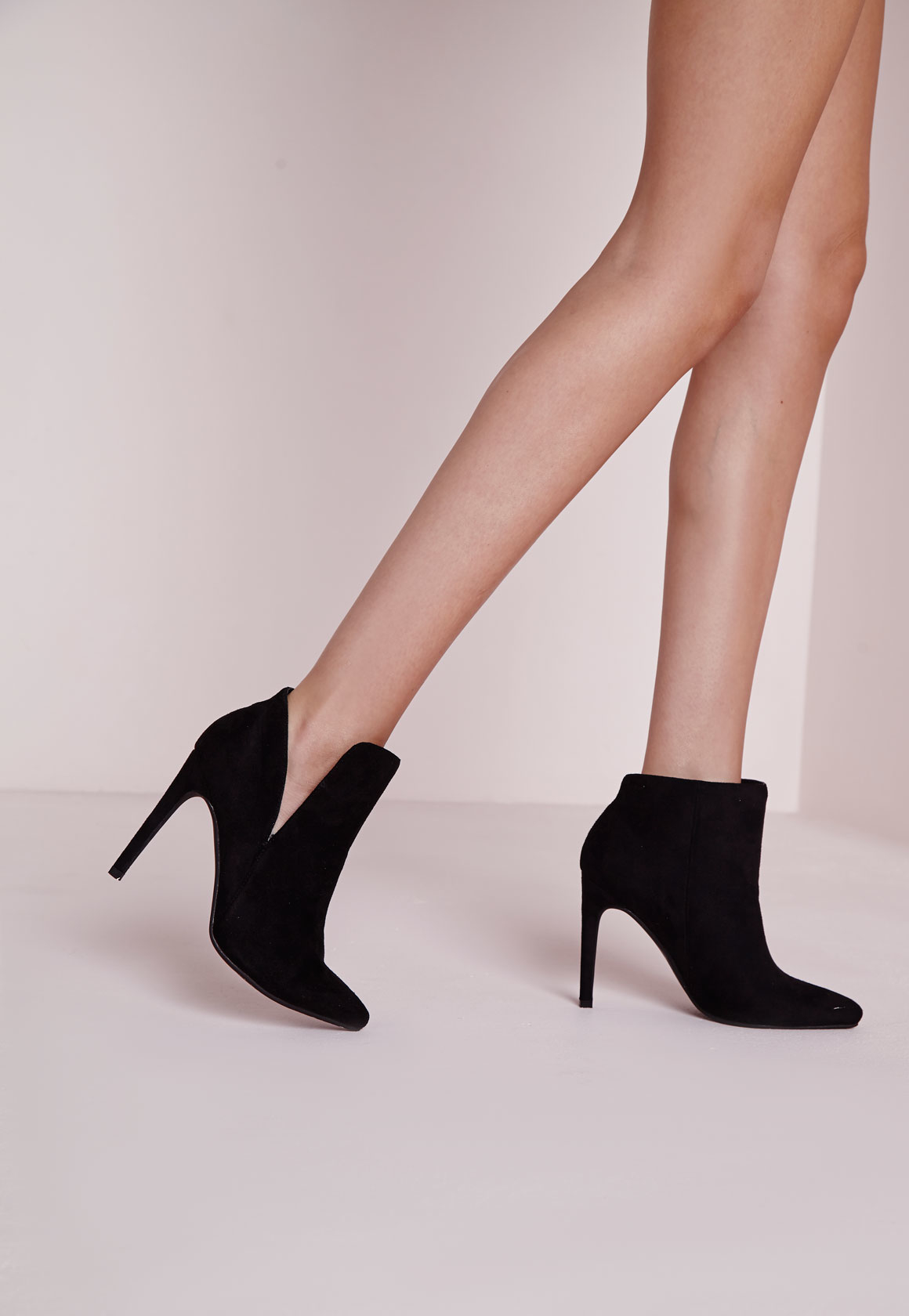 Missguided asymmetric ankle boots black in black lyst - Missguided head office address ...