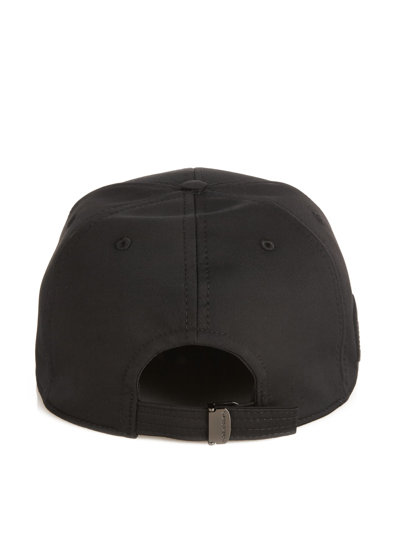 Lyst - Dolce   Gabbana Logo-plaque Baseball Hat in Black for Men af06bd79d53