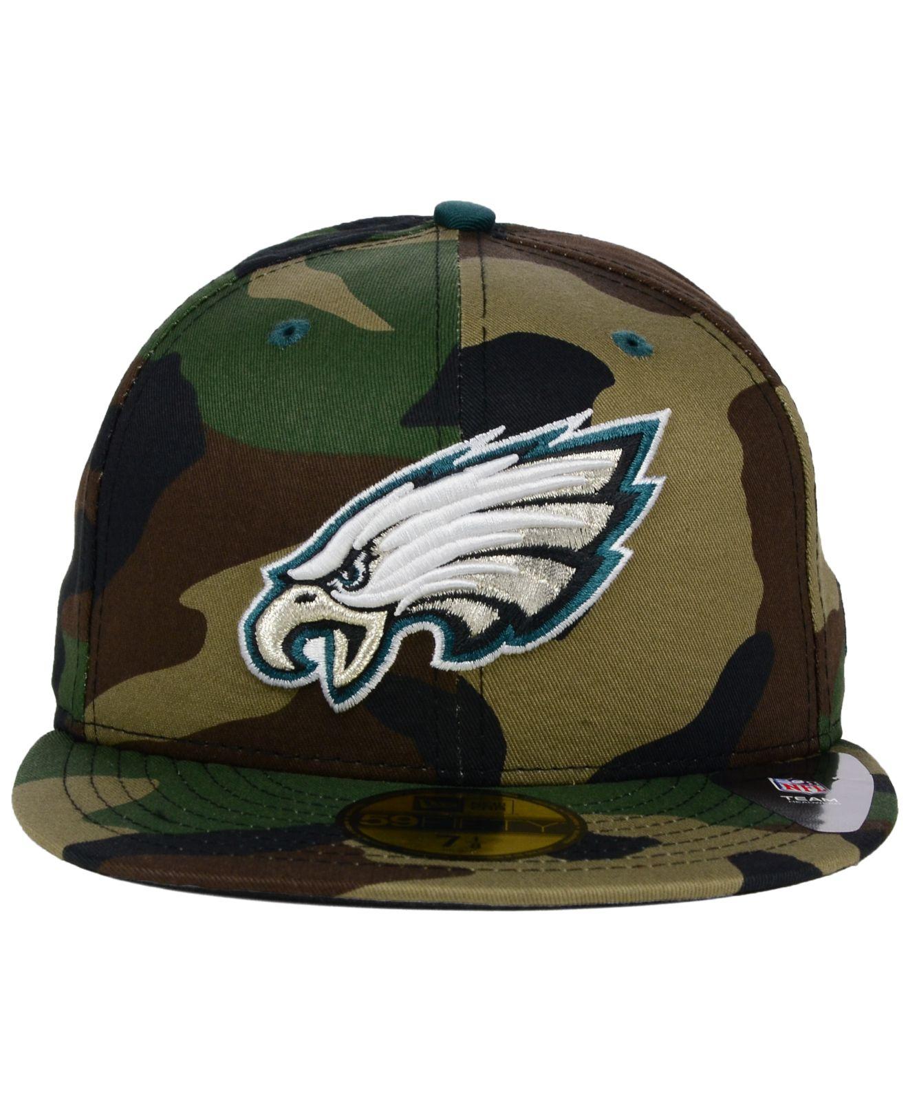 Lyst - KTZ Philadelphia Eagles Camo Pop 59fifty Cap in Green for Men 20c68063d