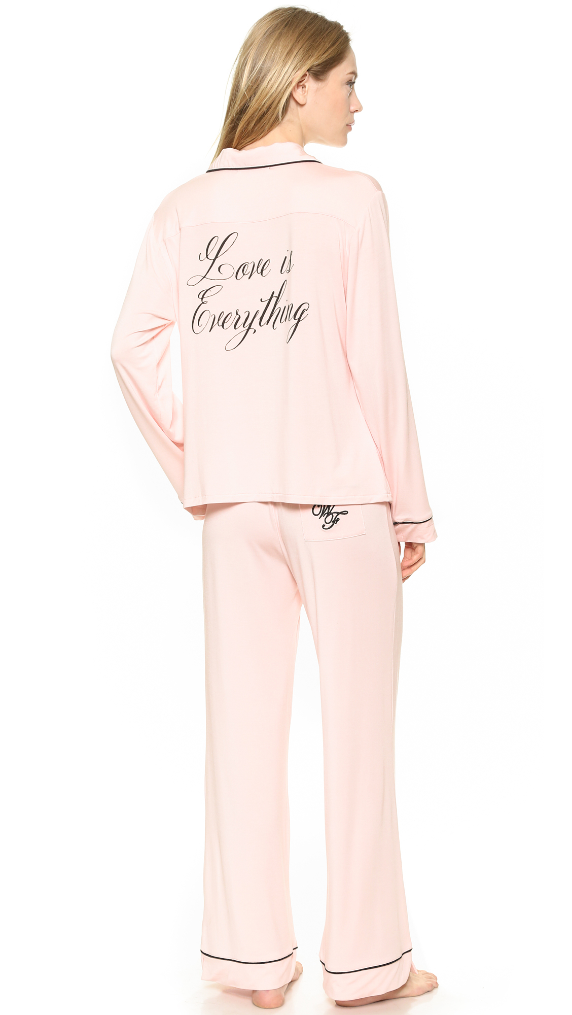 Lyst - Wildfox Love Is Everything Pj Set - Black in Pink 076a5b218