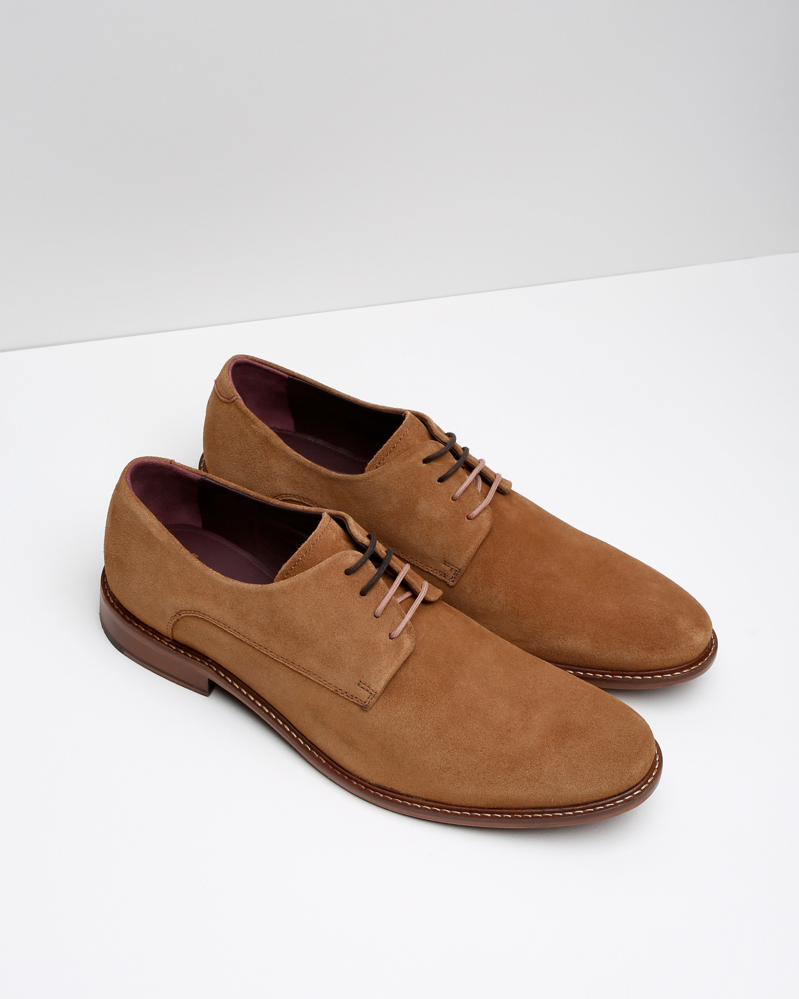 8f0d4897e Lyst - Ted Baker Classic Suede Derby Shoes in Brown for Men