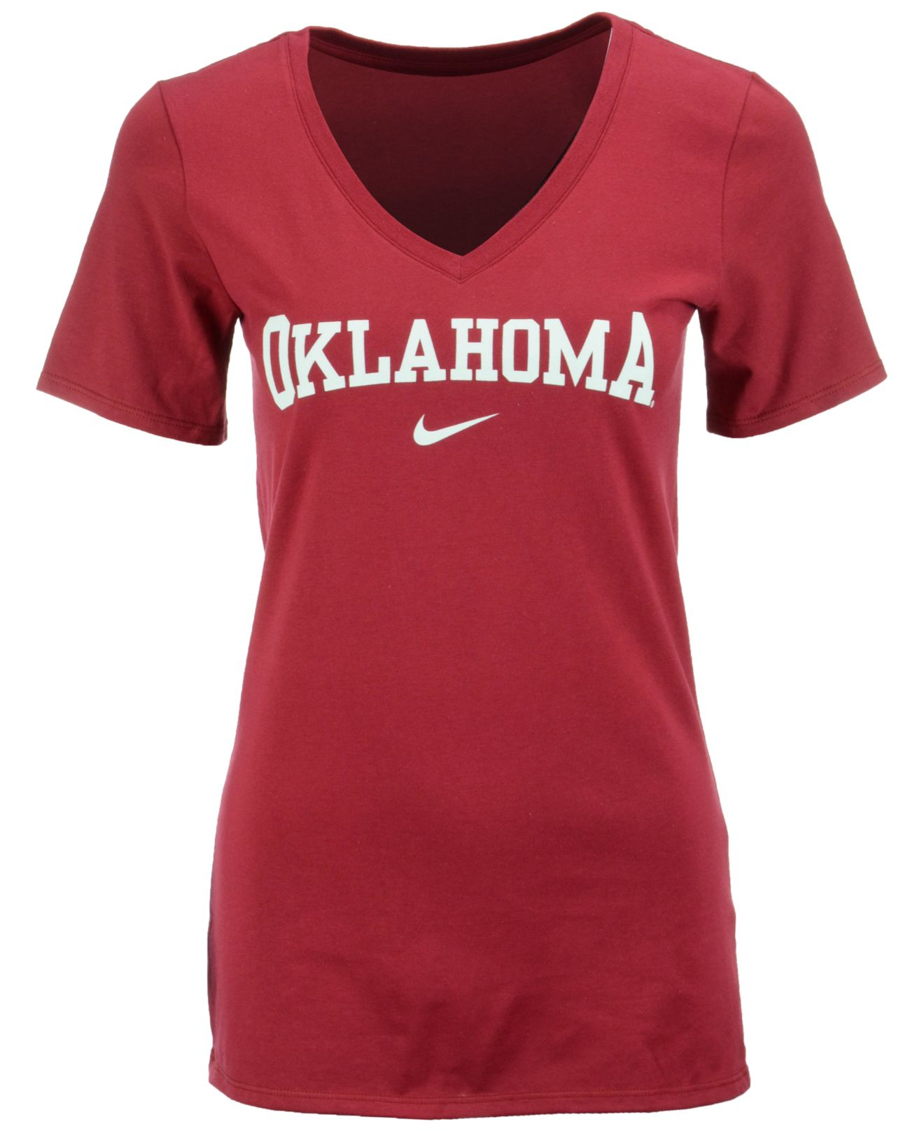 Nike Women 39 S Oklahoma Sooners Arch Mid T Shirt In Red Lyst