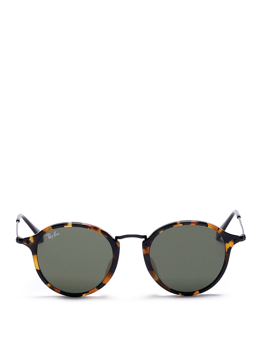 ray ban outlet tanger  ray ban brown round icon fleck tortoiseshell effect acetate sunglasses product 0 552576061 normal.jpeg