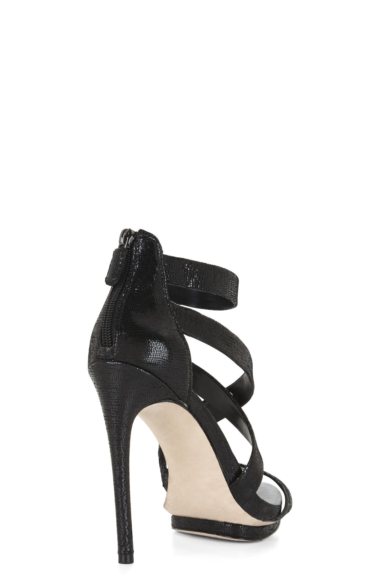 0a2f9a4b674 Lyst - BCBGMAXAZRIA Leemour Strappy High-Heel Sandal in Black