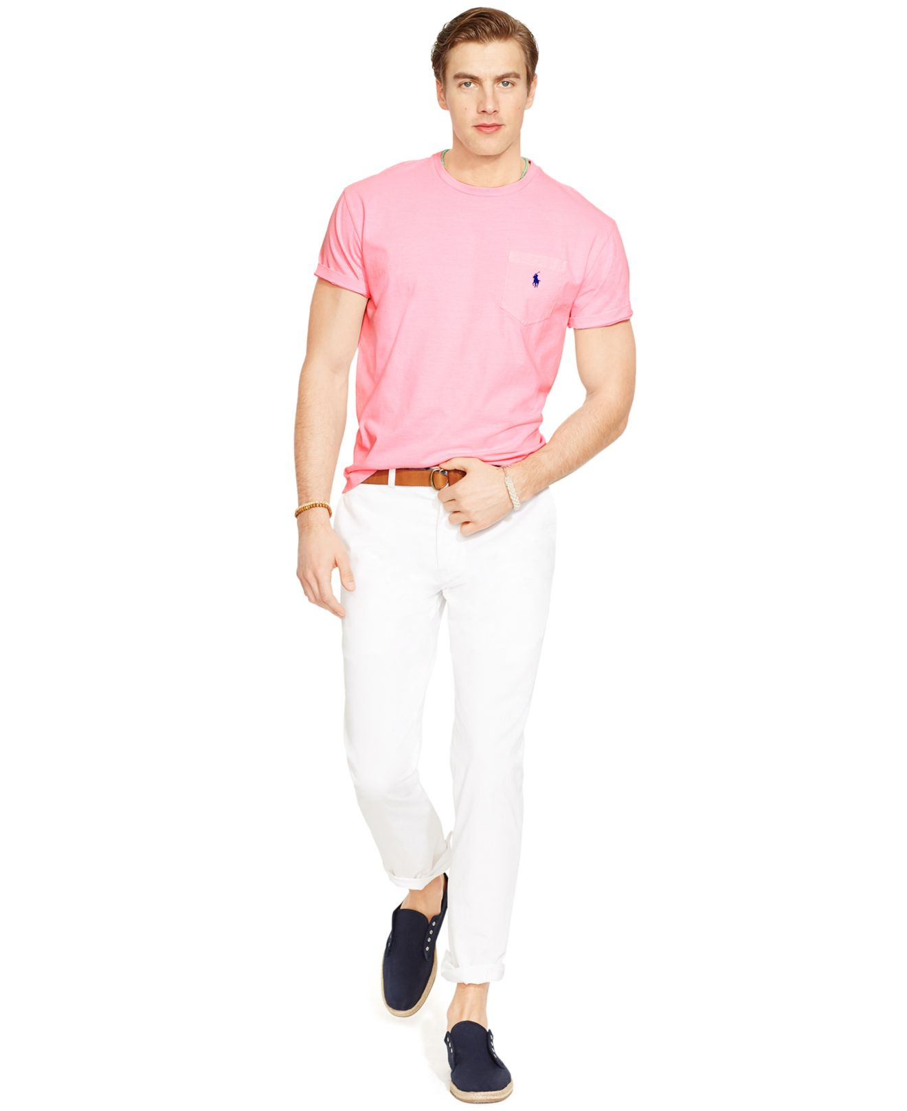 Lyst - Polo Ralph Lauren Classic-fit Neon Jersey Pocket ...