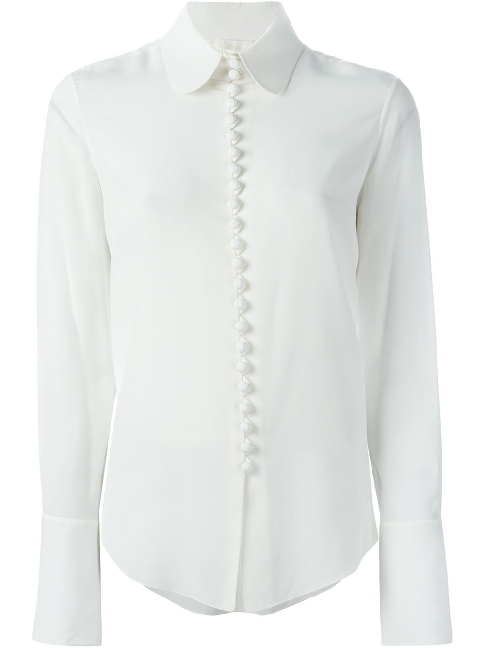 Lyst chlo peter pan collar shirt in white for White cotton shirt peter pan collar