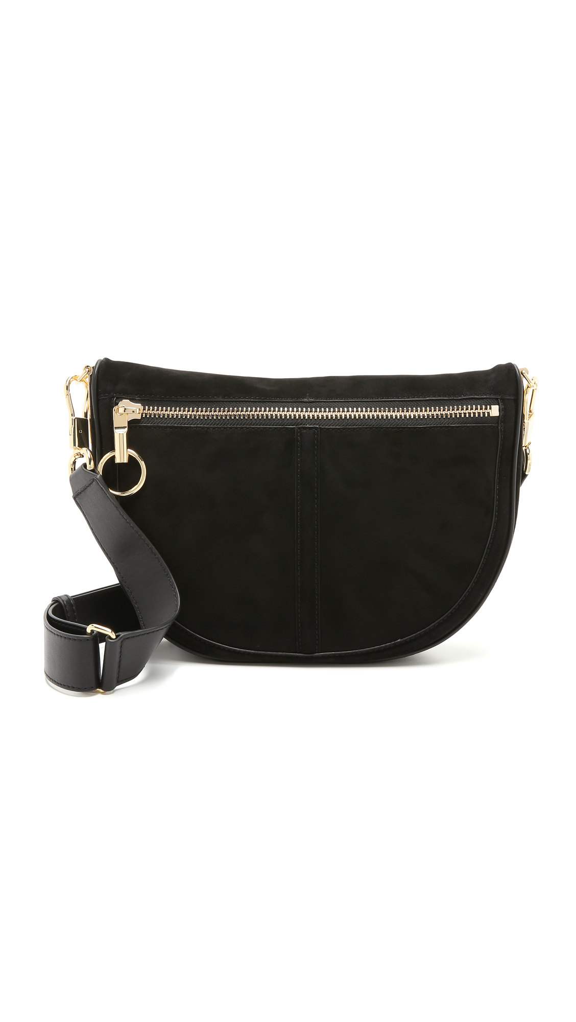 5fd6a78696 Elizabeth and James Scott Small Moon Saddle Bag in Black - Lyst