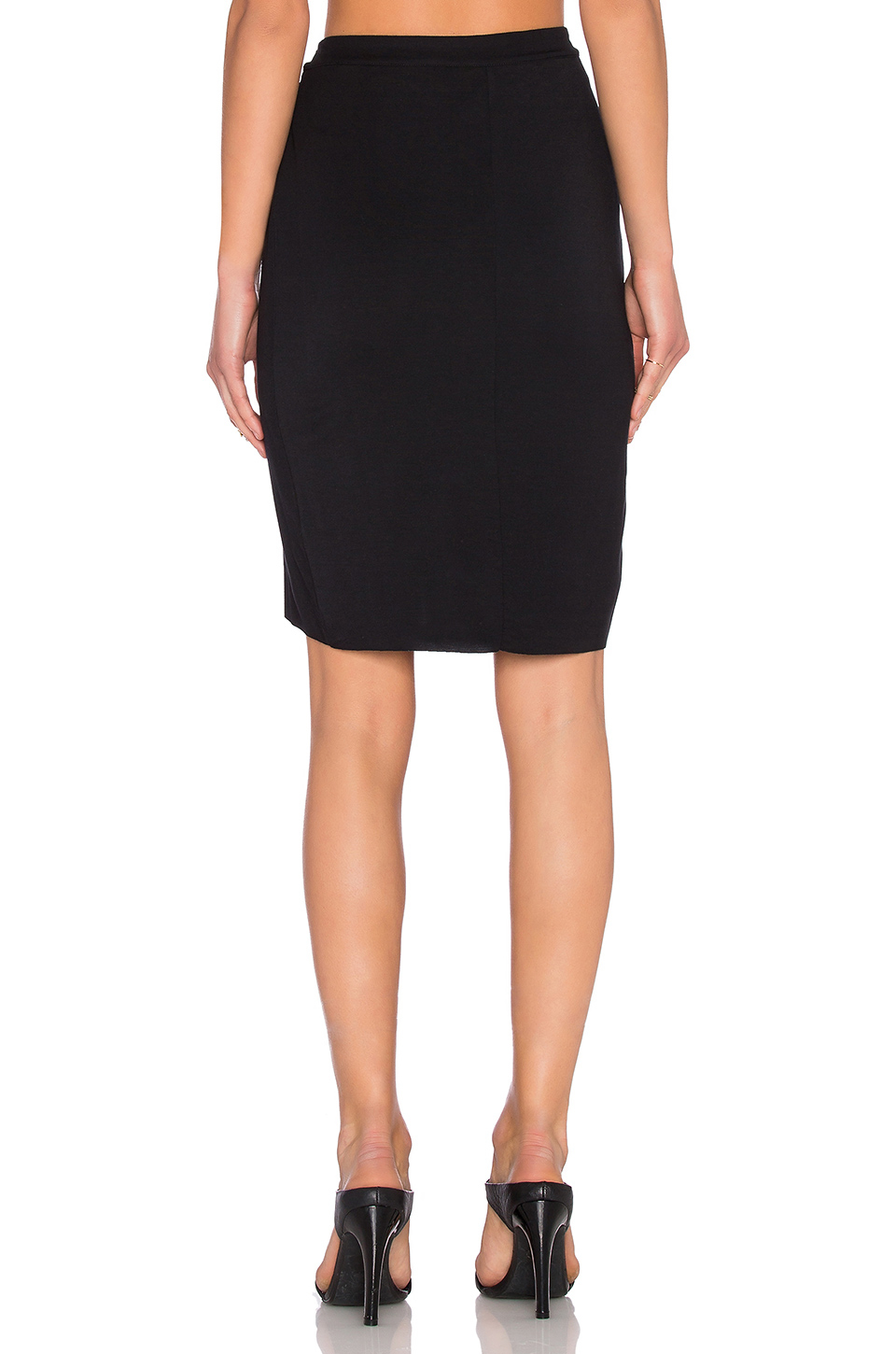 luxx high low pleated skirt in black lyst