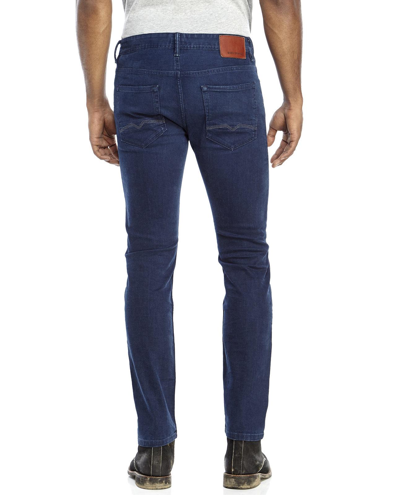 lyst boss orange blue orange90 dazzle regular fit jeans. Black Bedroom Furniture Sets. Home Design Ideas