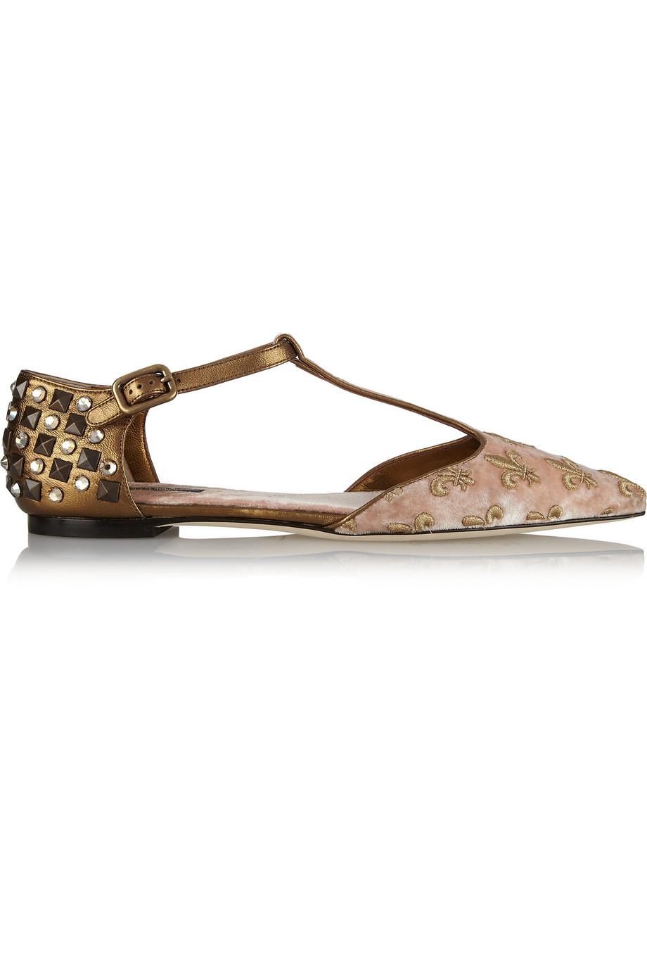 Dolce & Gabbana Leather Flats 1sDS90PY