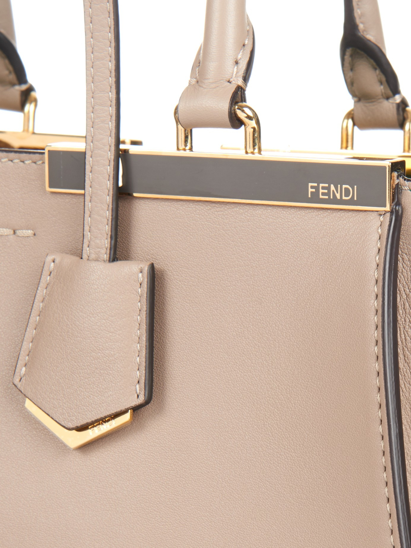 Lyst - Fendi 3Jours Small Trapeze Wing Leather Tote in Gray 7004bd6b97801