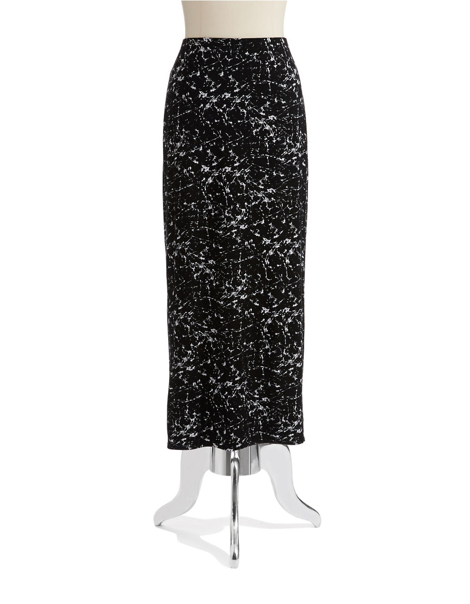 bailey 44 patterned maxi skirt in black lyst