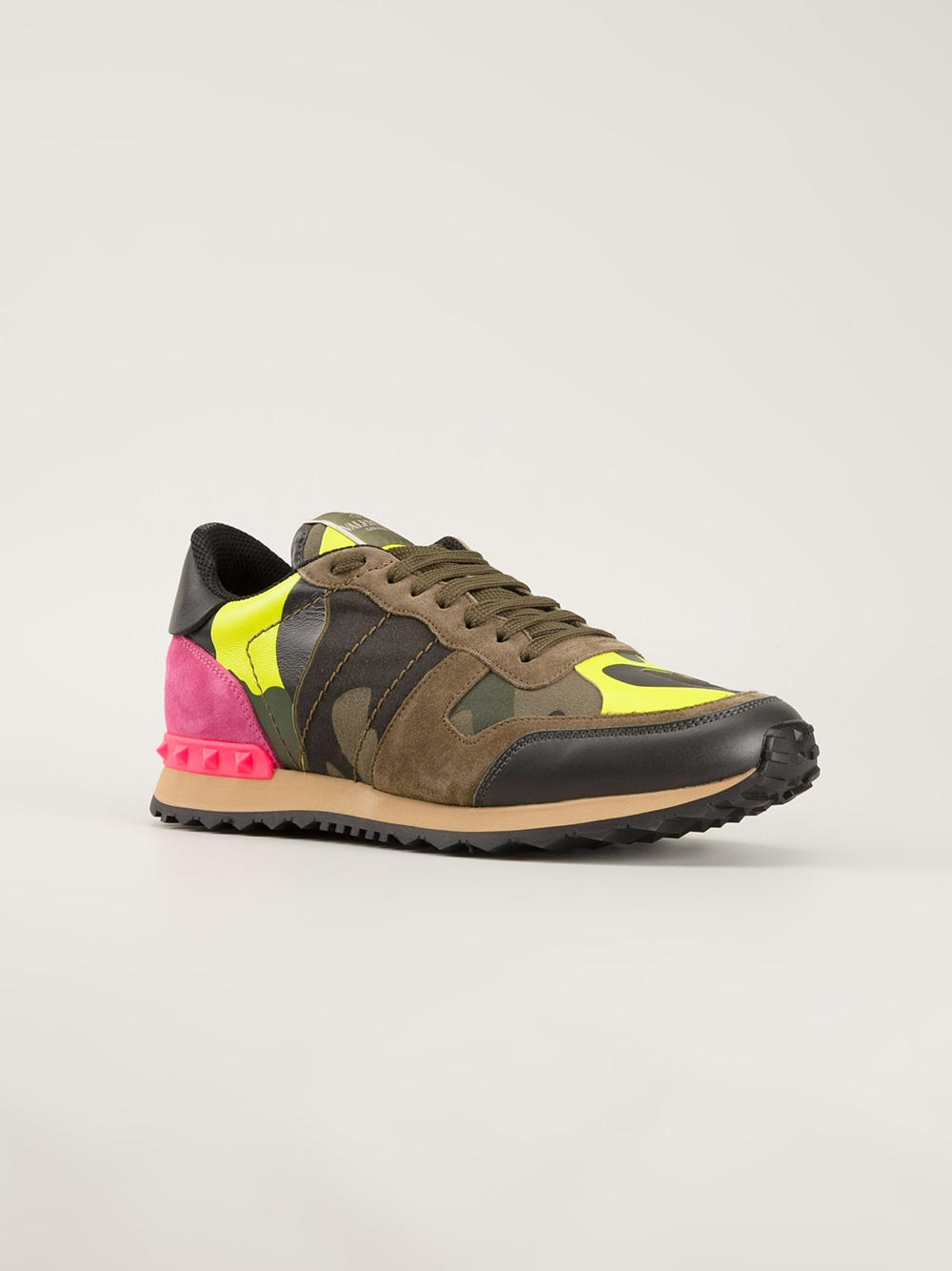 Lyst Valentino Military Trainers In Pink For Men