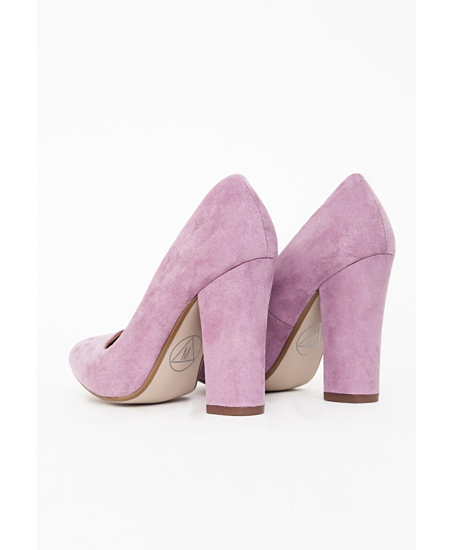 Purple Mid Heel Court Shoes